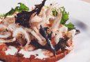 Ricette d'autore – Pappa al pomodoro con gambero di fondale fritto, crema di burrata e origano